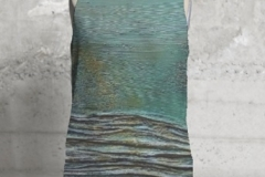 ATLANTIS 1 & 2 SLEEVLESS TOP $75 US 100% poly silk