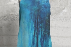 EBB AND FLOW 1 SLEEVELESS TOP $75 US 100% poly silk